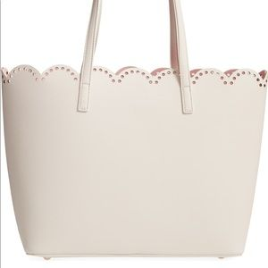BP Scalloped Faux Leather Tote